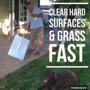 ClearHardSurfacesGrassFast